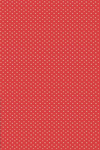 Red Polka Dots Vintage Shelves