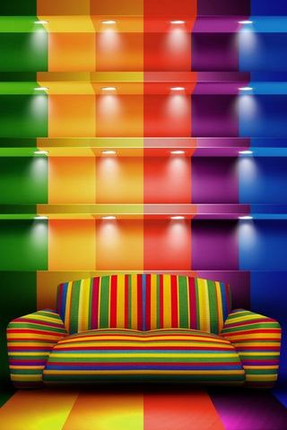 Colored Couch