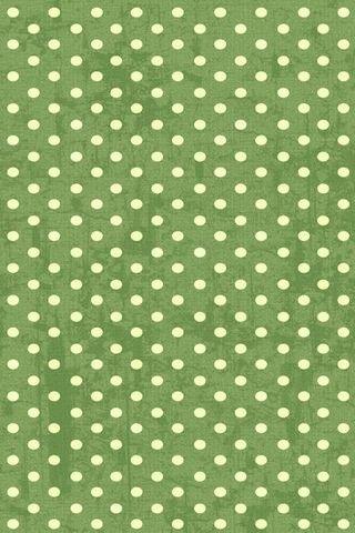 Green Vintage Polka Dots