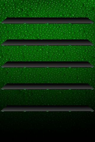 Dew Drops Green BG W Shelves