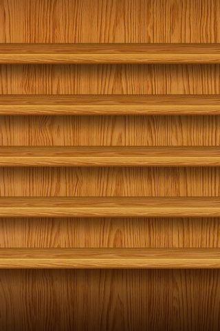Wooden Plank Shelf
