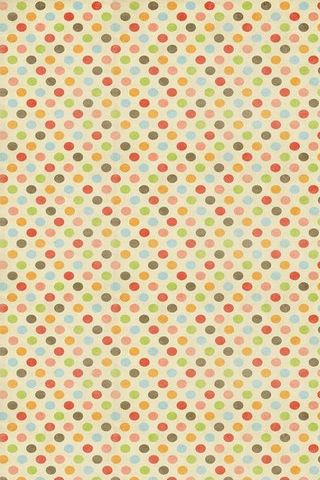 Vintage Colorful Polka Dots
