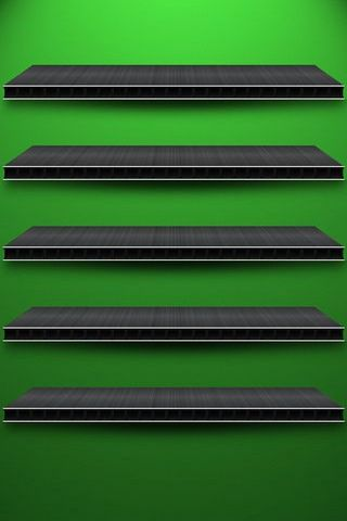 Green BG W Shelves (IPhone 5)