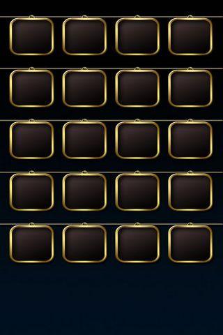 Colgantes negros de oro de BG W Square
