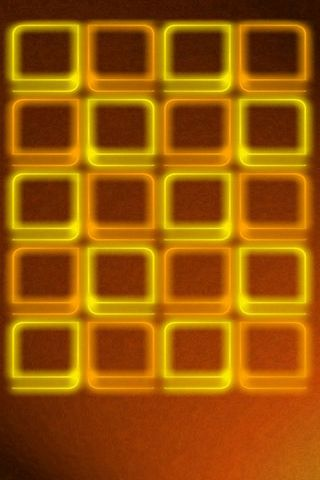 Orange BG W Glow Shelves - IP5