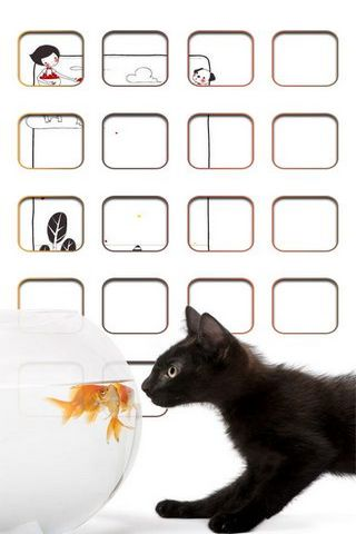 Kitten & Fish Shelf