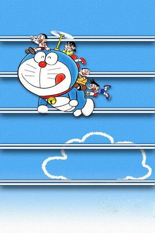 Doraemon Flying With Others