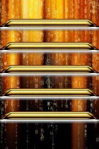 IPhone 5 Shelves Yellow Matrix