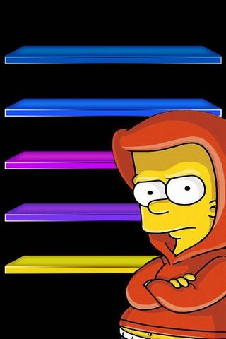 IPhone 5 Shelves The Simpsons Bart