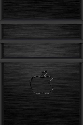 3D Apple Logo Brushed Metal