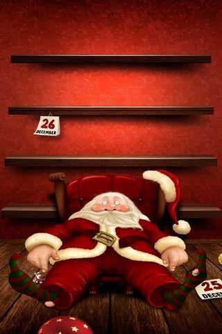 Santa sau Giáng sinh Shelves