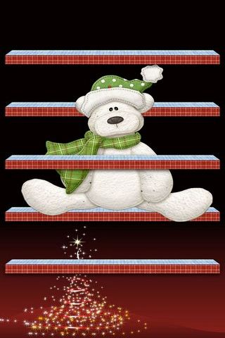 IPhone 5 Shelves Christmas Teddybear