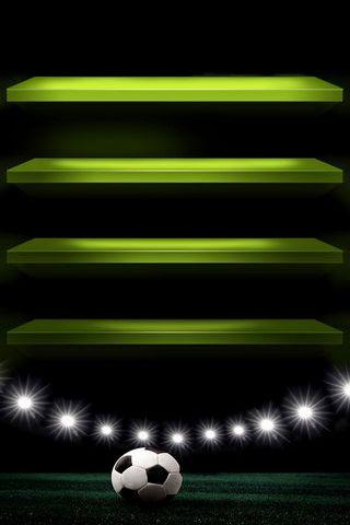 Green Soccer Shelf
