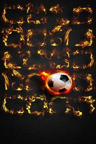 Fiery Football Shelf