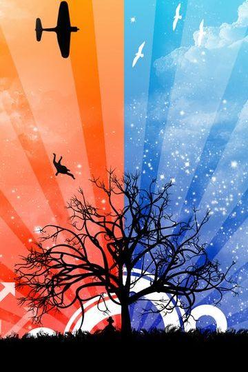 Bela árvore de fundo