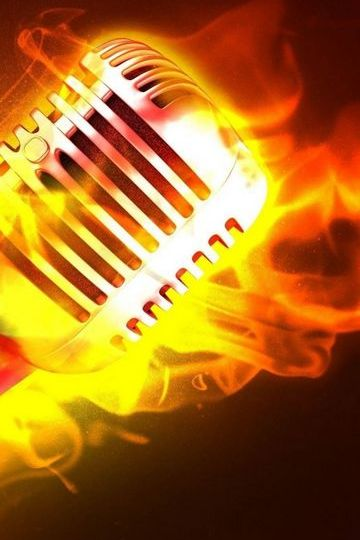 Microphone Fire Flame Metal