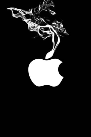 Apple लोगो धूम्रपान