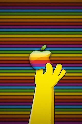 होमर खाती है सेब