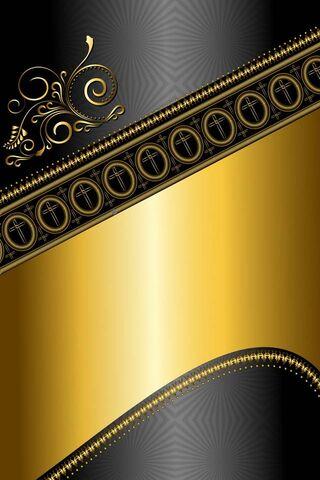 Phoneky Black N Gold Hd خلفيات