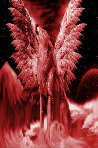 Wings Wolf Burns