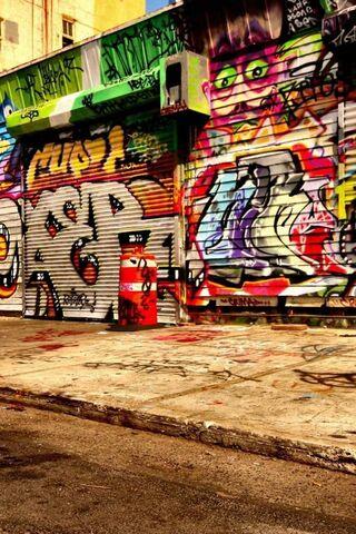 ผนัง Graffiti