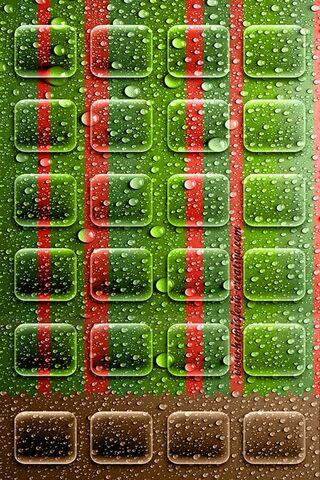 Listras Gotas Verde