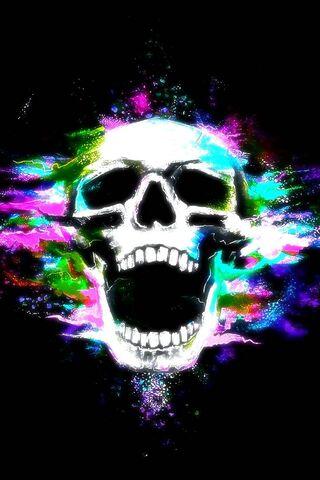 Color Dust Skull