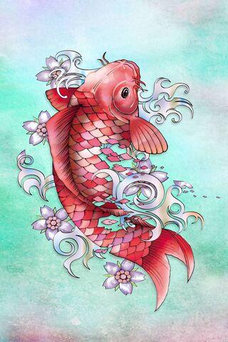 Garnet Koi Fish