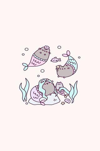Pusheen Meerjungfrau
