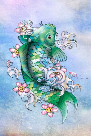 Emerald Koi Fish