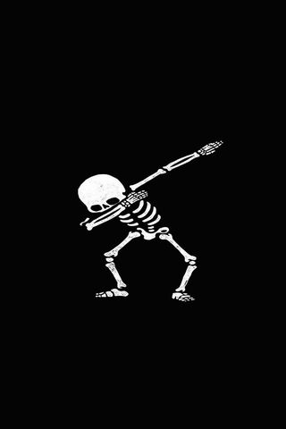 Скелет чорний білий