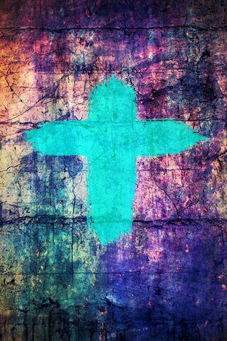 深青色十字架