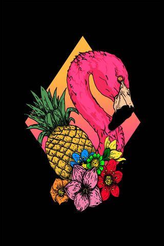 Pineapple Flamingo