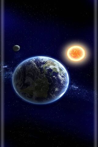 Earth Sun Moon