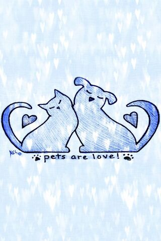 Pets Are Love -Heart