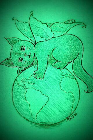 Kucing bersayap Bumi