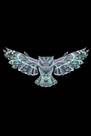 Phoneky Amoled Black Owl Hd Wallpapers