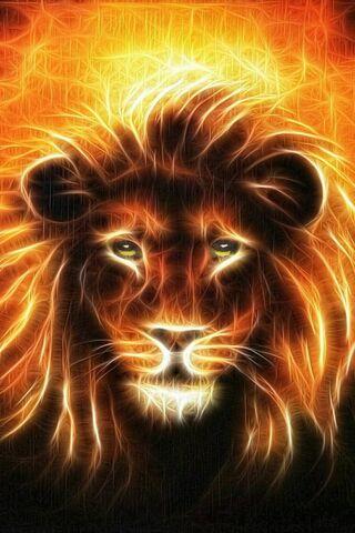Phoneky Neon Lion Hd Wallpapers