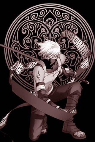 तलवार के साथ नारुतो