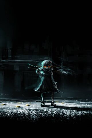 Dark Anime Girl Art