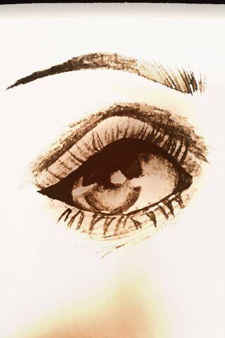 आँख खींचना
