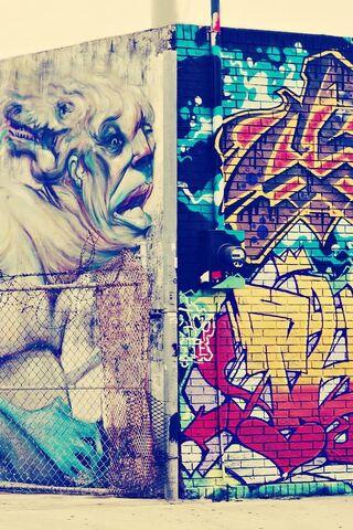 Граффити внутри