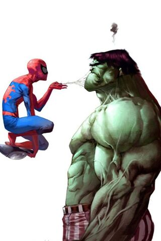 Spiderman dan Hulk