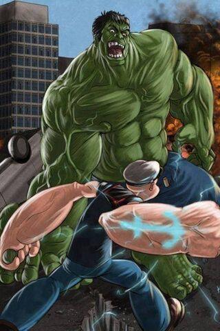 Hulk Vs Popeye