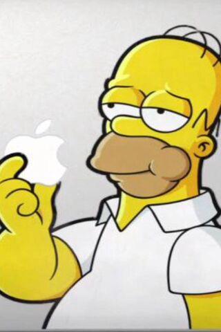 Homer Eating Apple