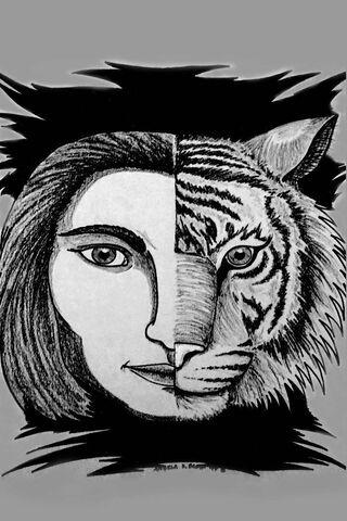 Art de tigre