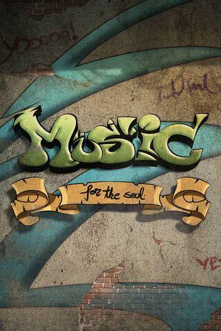 ग्राफिटी संगीत वॉल