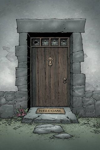 Porta de boas vindas