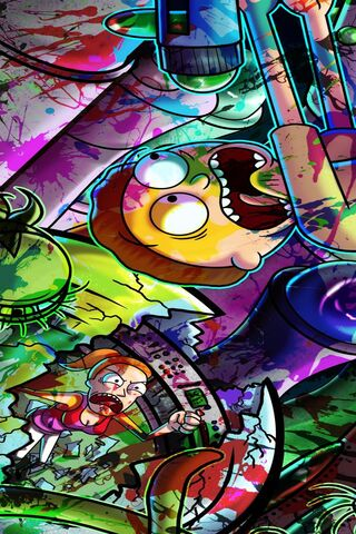 Rick dan Paint Morty