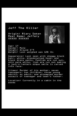 Jeff The Killer Info